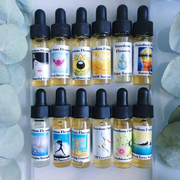 flower essence samples from Freedom flowers