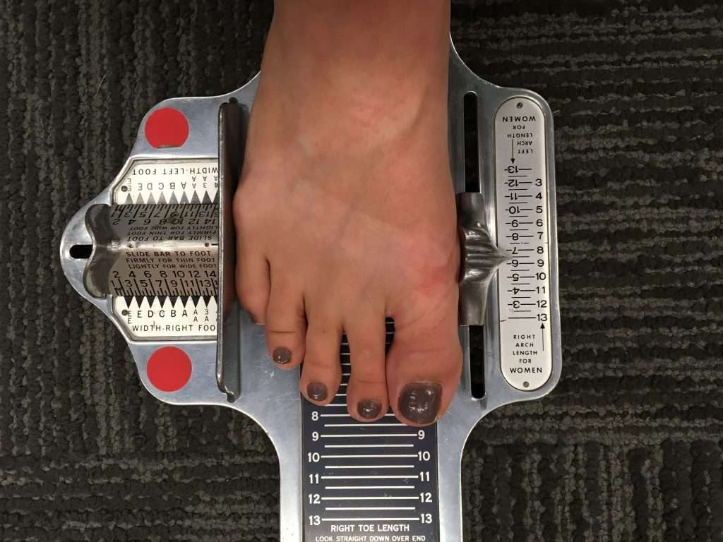 image regarding Printable Brannock Device identify How Towards Identify Your Chaco Dimensions And Notice If Youre Sporting The